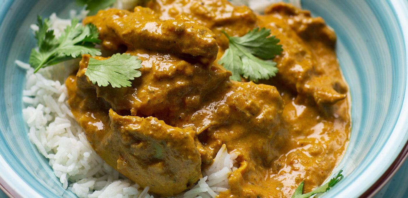 Vegetarisk indisk butter chicken (Murgh makhani)