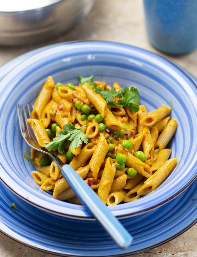 Krämig pasta med masalasås