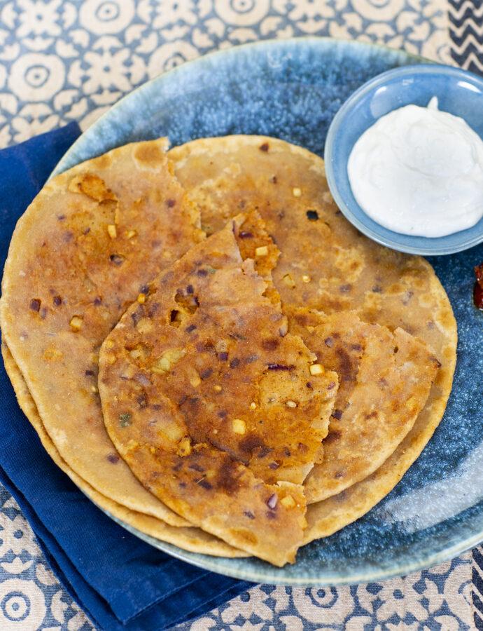 Aloo paratha – indiska fyllda bröd med potatis