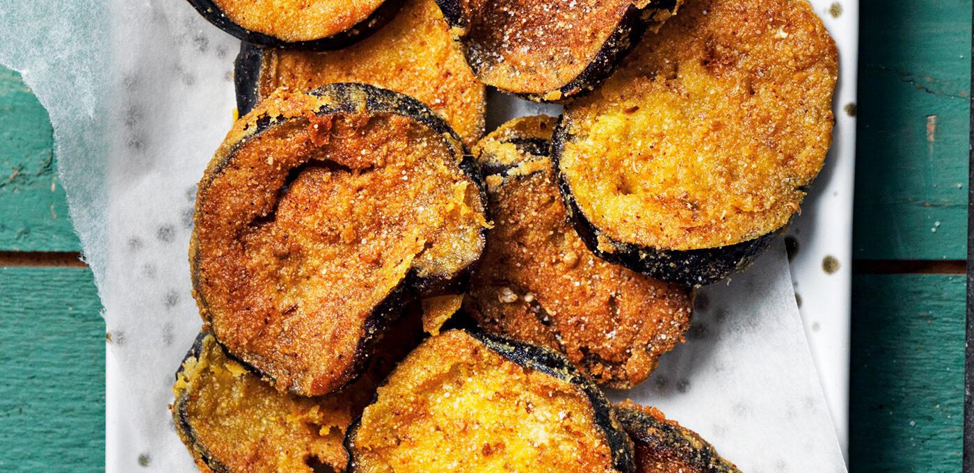 Indisk frasigt stekt aubergine – Brinjal fry