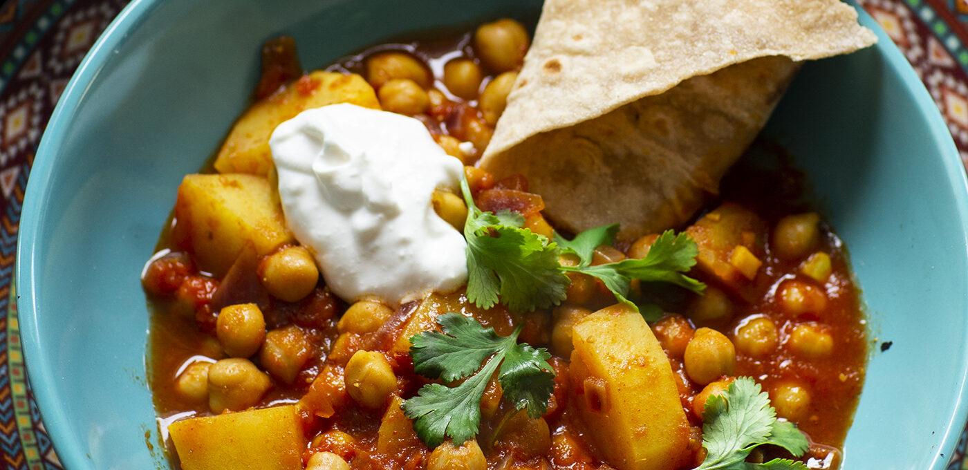 Indisk potatiscurry – chana aloo masala