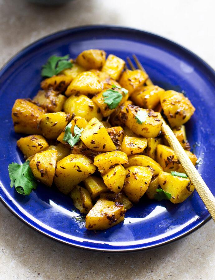 Jeera aloo – potatis med spiskummin