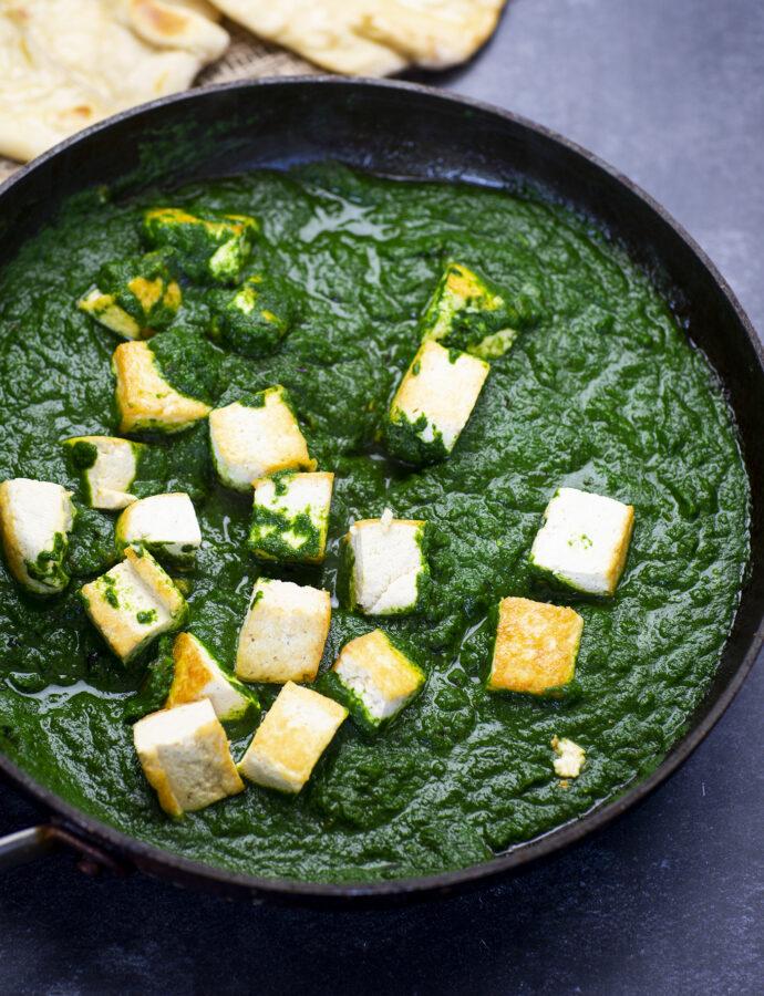 Indisk palak paneer – vegetarisk spenatröra med paneer