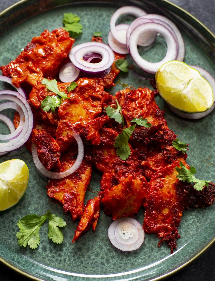 Vegetarisk indisk tandoorikyckling (tandoori chicken)
