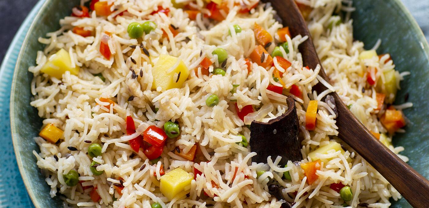 Vegetarisk pulao – indiskt ris med grönsaker
