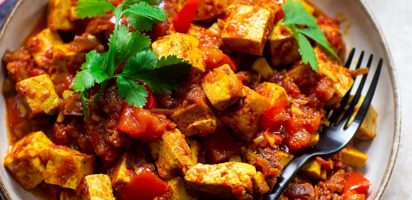 Vegetarisk tawa paneer (med tofu)